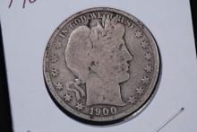 1900 Barber Half Dollar- AG