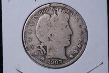 1907 Barber Half Dollar - G