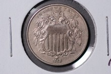 1868 Shield Nickel - AU