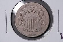 1876 Shield Nickel - VG