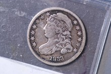1833 Capped Bust Dime - VF