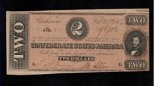1864 $2 Confederate Note - XF