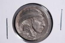 1936 Buffalo Nickel - Hobo Nickel