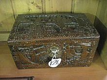 Carved Camphor Box