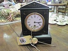 French Slate Mantle Clock