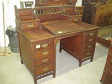 Mahogany Dickens Style Desk
