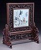 Chinese Qing Qianjian porcelain table screen