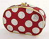Judith Leiber red and white polka dot minaudiere,