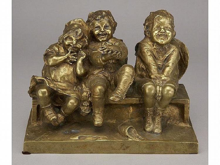 Spanish patinated bronze Juan Clara sculpture