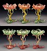 (6) Venetian glass floriform champagne coupes
