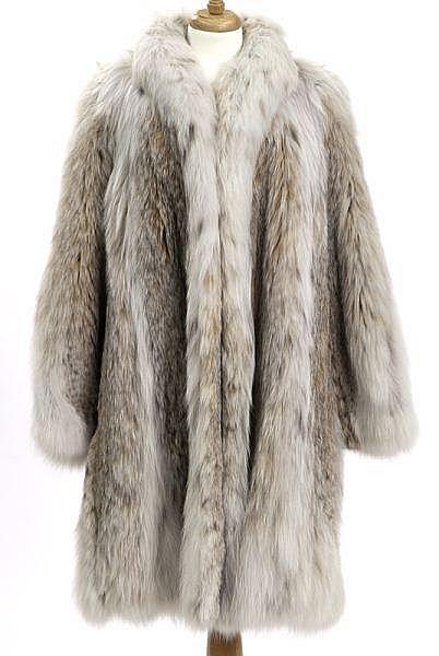 Rare Mongolian lynx fur stroller length coat,