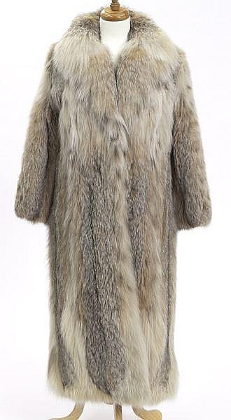 Chloe lynx fur full-length coat