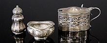 3 Various Edw HMSS Tableware. Incl. Mustard pot,