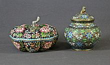 2 Various Chinese Cloisonne Lidded Bowls. Both
