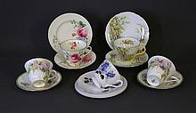 4 Various English Cup & Saucer Sets. Incl. Shelley
