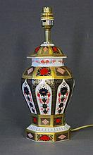 Royal Crown Derby Table Lamp. 'Old Imari,' 1128.