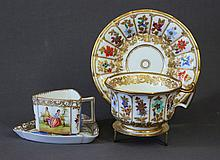 2 Various Coffee Cups & Saucers. Incl. Dresden