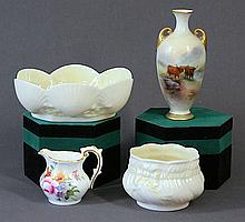 4 Various Porcelain Items. Incl. Royal Worcester