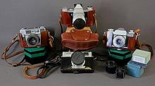 4 Various 35MM Cameras. Boxed Minolta 75; Zeiss