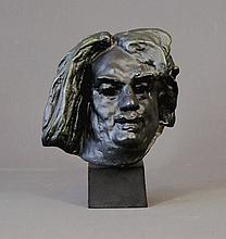 Reproduction Rodin Head of Balzac. On wooden