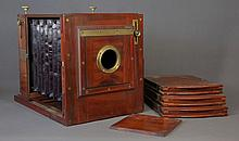 C1890 Marion & Co. Camera. Mahogany 6x8inch glass