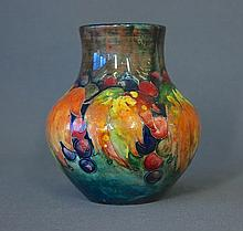 William Moorcroft Leaf & Berry Vase. c.1930 with
