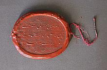 Early Governor of India Wax Seal. Hand written