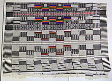 5 Various Woven Cloths. Incl. large modern ikat.