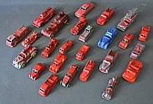 25 American 1930s Die Cast Model Trucks & Cars
