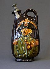 Royal Doulton Kingsware Flask. 'Nelson.' With