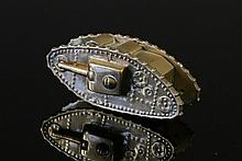 Brass WWI Tank Form Paperweight. Of the era, with