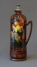 Royal Doulton Kingsware Flask. 'Here's Health unto