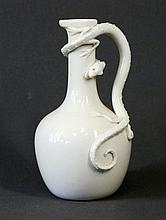 Royal Worcester Blanc De Chine Ewer. Lizard form