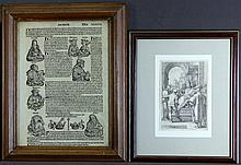 2 Various Items. Incl., early engraving