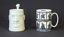2 Various Porcelain Mugs. Incl. Wedgwood