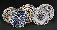 6 Early Porcelain Plates. Incl. Spode; Ford; etc.