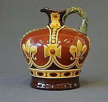 Royal Doulton Kingsware Flask. Crown Shape.