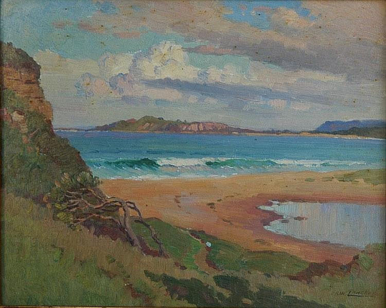 LANGKER, Erik (1898-1982) Beach with Breaking