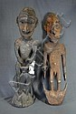 Papua New Guinea Ancestor Figure, & Basket Hook.