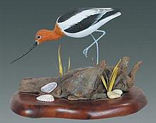 Miniature Avocet by Manfred Scheel