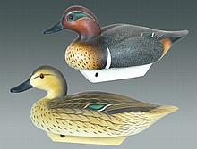Pair of Joiner Green Winged Teal