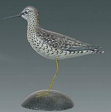 Miniature Greater Yellowlegs by A. E. Crowell