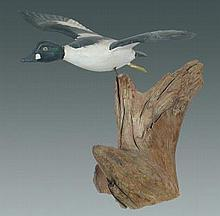 Miniature Flying Goldeneye by Russ Burr