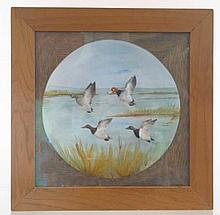 Mini Wall Mount Canvasback and Redheads by Peltier