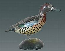 Miniature BW Teal Drake by Crowell
