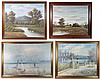 4 XX paintings Rabous, oil on canvas , French