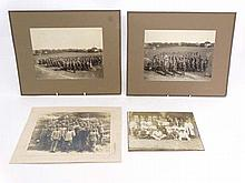 Militaria : A collection of WWI Military photographs , to include an unusual photo of a platoon of Swedish soldiers ( dated 1918 to reverse ) , and two further photos of a Swedish Infantry company on a parade ground ( dated 1914 to reverse . )