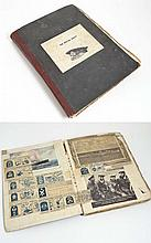 Book: A World War II Royal navy scrap book. Consisting of a selection of newspaper cuttings. Including articles and images of British ships such as HMS Intrepid, Daring , Revenge , Royal Sovereign and Repulse. German U-Boats and ships, Ally ships,