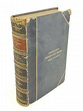 Book : Rev J G Wood M.A. The Popular Natural History with 12 colour plates and illustrations throughout, published by George Routledge & Sons London 1894, bound in quarter leather with gold tooling to spine and marbled inside boards. Embossed to