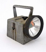 Railwayana : A railway green, orange, red and clear lens  battery operated  torch / lamp  Bardic Ltd Southampton 6